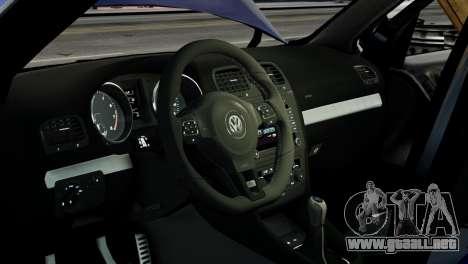 Volkswagen Golf R 2010 ABT Paintjob para GTA 4 vista interior
