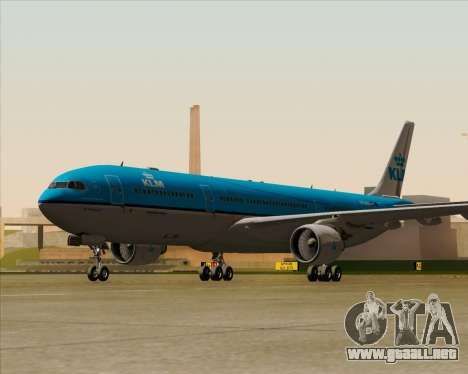 Airbus A330-300 KLM Royal Dutch Airlines para la visión correcta GTA San Andreas