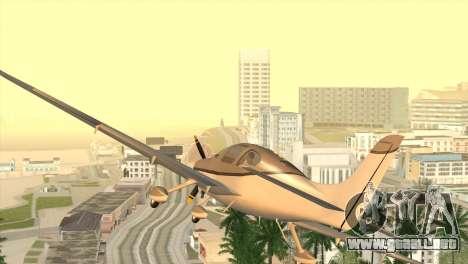Cirrus SR-22 para GTA San Andreas vista posterior izquierda