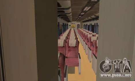 K1 Argo Traincar De Indonesia para GTA San Andreas vista hacia atrás