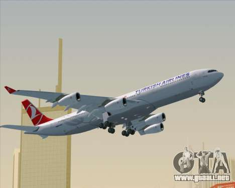 Airbus A340-313 Turkish Airlines para la vista superior GTA San Andreas