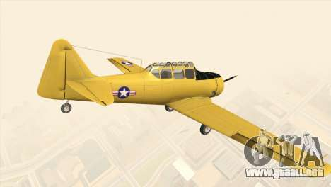 North American T-6 TEXAN para GTA San Andreas left
