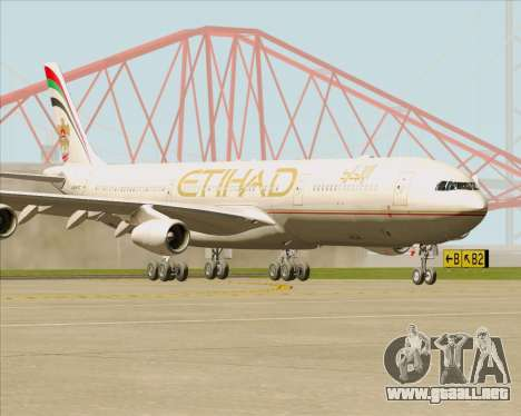Airbus A340-313 Etihad Airways para GTA San Andreas left