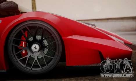 Ferrari Gemballa MIG-U1 para GTA San Andreas vista posterior izquierda
