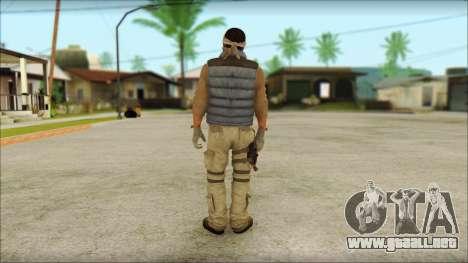 Arabian Resurrection Skin from COD 5 para GTA San Andreas segunda pantalla
