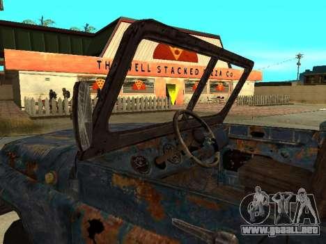 La policía UAZ de Stalker para GTA San Andreas vista posterior izquierda