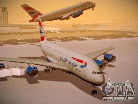 Airbus A380-800 British Airways para vista inferior GTA San Andreas