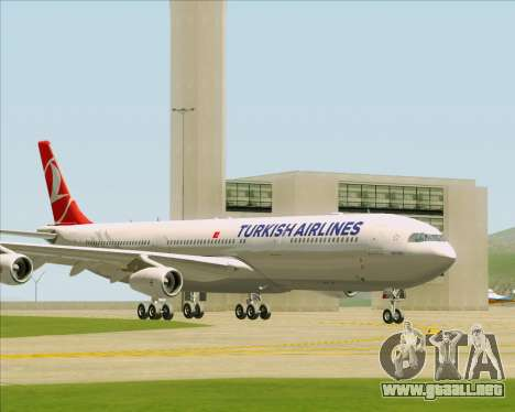 Airbus A340-313 Turkish Airlines para GTA San Andreas left