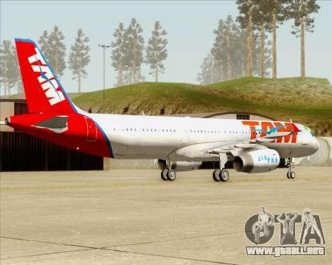 Airbus A321-200 TAM Airlines para la visión correcta GTA San Andreas