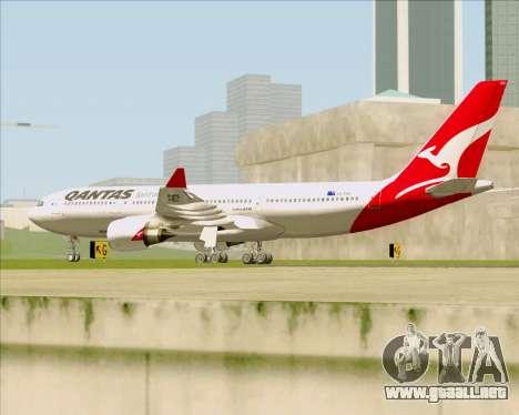 Airbus A330-200 Qantas para la visión correcta GTA San Andreas