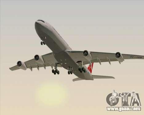 Airbus A340-313 Turkish Airlines para vista lateral GTA San Andreas