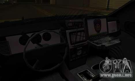 Vapid Police Interceptor from GTA V para vista inferior GTA San Andreas