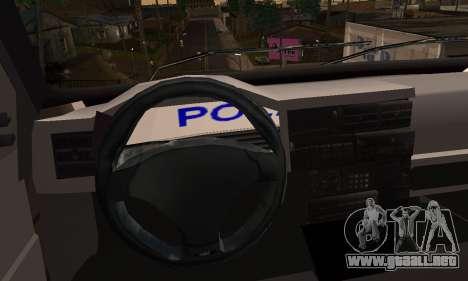 Volkswagen Caravelle Politia para GTA San Andreas vista posterior izquierda