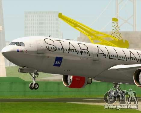 Airbus A330-300 SAS (Star Alliance Livery) para visión interna GTA San Andreas