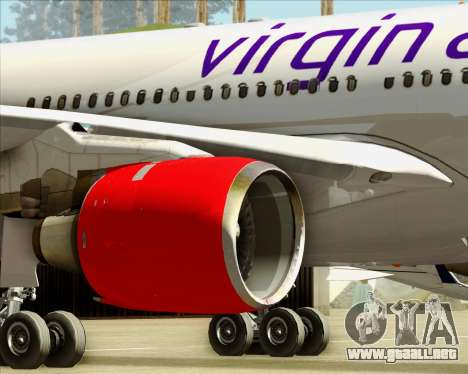 Airbus A330-300 Virgin Atlantic Airways para las ruedas de GTA San Andreas