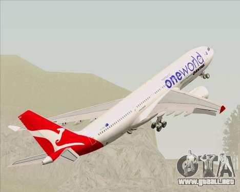 Airbus A330-200 Qantas Oneworld Livery para las ruedas de GTA San Andreas