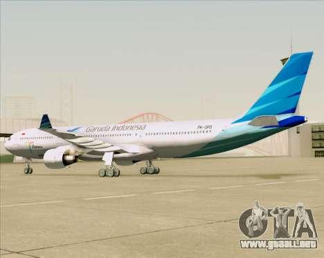 Airbus A330-300 Garuda Indonesia para GTA San Andreas vista hacia atrás