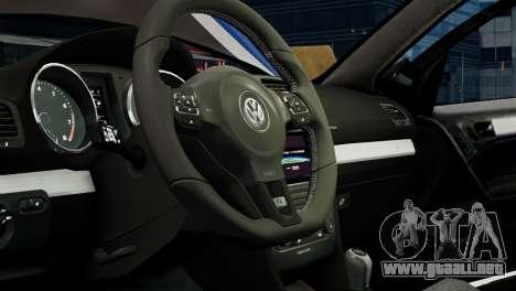 Volkswagen Golf R 2010 Polo WRC Style PJ1 para GTA 4 vista interior