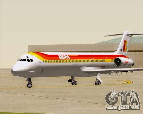 McDonnell Douglas MD-82 Iberia para GTA San Andreas left