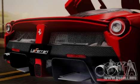 Ferrari LaFerrari F70 2014 para vista inferior GTA San Andreas