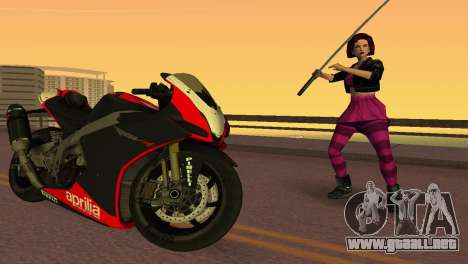 Aprilia RSV4 2009 Edition I para GTA Vice City