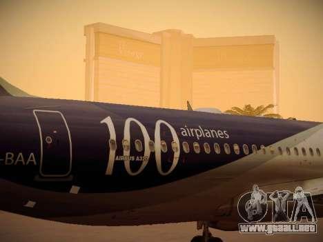 Airbus A320-214 LAN Airlines 100th Plane para la vista superior GTA San Andreas