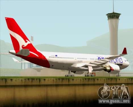 Airbus A330-200 Qantas Oneworld Livery para la vista superior GTA San Andreas