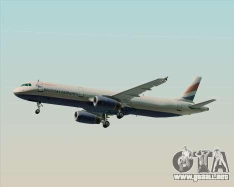 Airbus A321-200 British Airways para el motor de GTA San Andreas