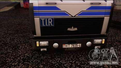 MAZ 642208 para GTA San Andreas vista posterior izquierda