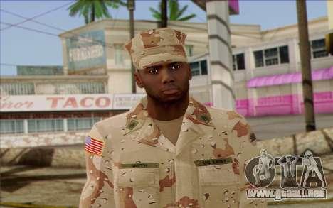 California National Guard Skin 2 para GTA San Andreas tercera pantalla