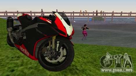 Aprilia RSV4 2009 Edition I para GTA Vice City vista lateral izquierdo