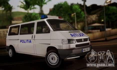 Volkswagen Caravelle Politia para GTA San Andreas