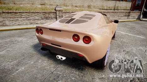 Lotus Exige para GTA 4 Vista posterior izquierda