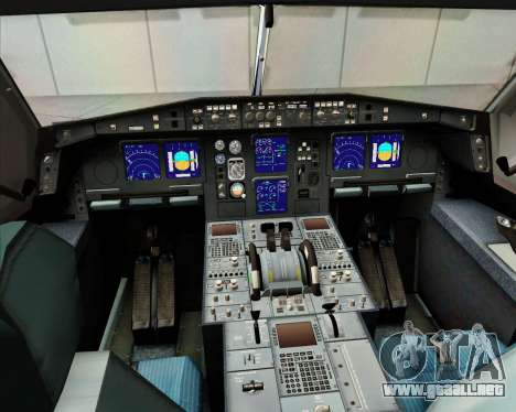 Airbus A340-313 Etihad Airways para vista inferior GTA San Andreas