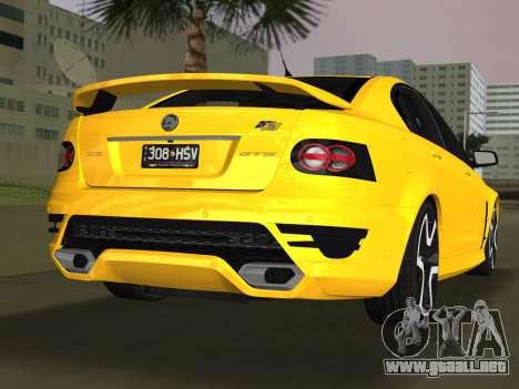 Holden HSV GTS 2011 para GTA Vice City left