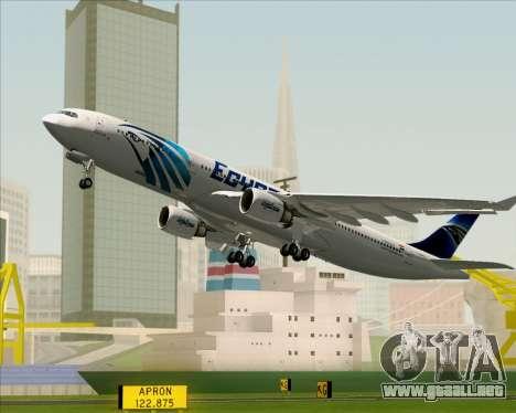 Airbus A330-300 EgyptAir para las ruedas de GTA San Andreas