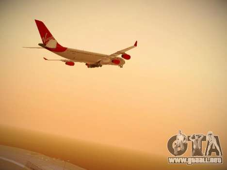 Airbus A340-300 Virgin Atlantic para visión interna GTA San Andreas