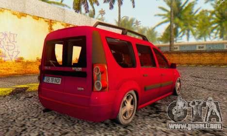 Dacia Logan MCV para GTA San Andreas vista hacia atrás