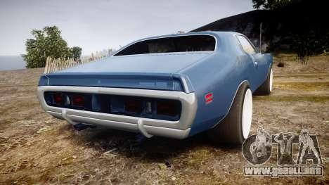 Dodge Charger 1971 v2.0 para GTA 4 Vista posterior izquierda
