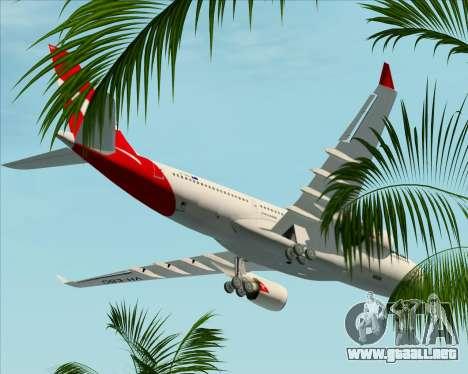 Airbus A330-200 Qantas para vista inferior GTA San Andreas