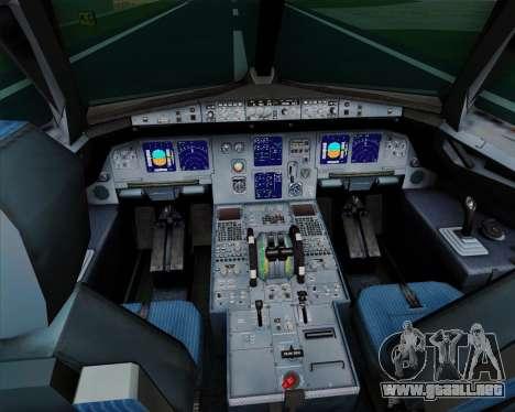 Airbus A321-200 TAM Airlines para GTA San Andreas interior