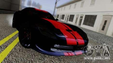 Dodge Viper SRT GTS 2013 Road version para visión interna GTA San Andreas