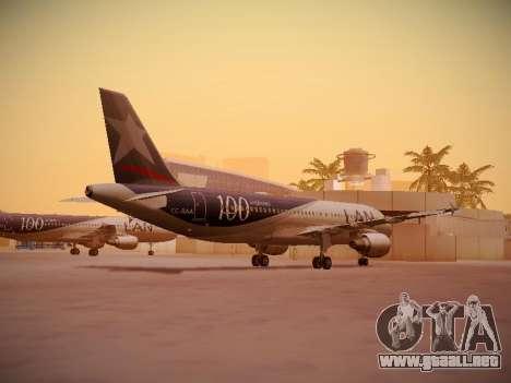 Airbus A320-214 LAN Airlines 100th Plane para la visión correcta GTA San Andreas
