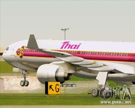 Airbus A330-300 Thai Airways International para las ruedas de GTA San Andreas