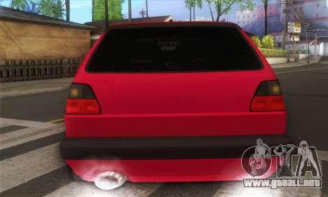 Volkswagen Golf Mk2 Low Life para la visión correcta GTA San Andreas