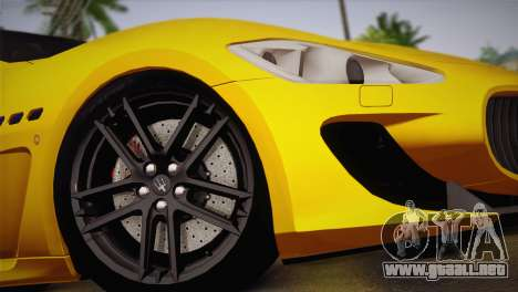 Maserati Gran Turismo MC Stradale para GTA San Andreas vista posterior izquierda