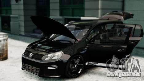 Volkswagen Golf R 2010 Polo WRC Style PJ1 para GTA 4 visión correcta