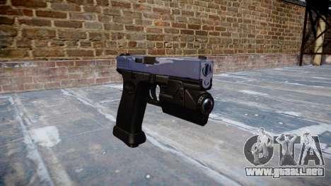 Pistola Glock 20 blue tiger para GTA 4