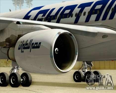 Airbus A330-300 EgyptAir para vista inferior GTA San Andreas