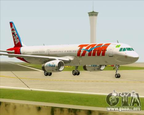 Airbus A321-200 TAM Airlines para GTA San Andreas left